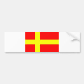 Swedish speaking Finns ethnic flag Car Bumper Sticker