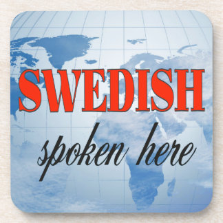Swedish spoken here cloudy earth beverage coaster