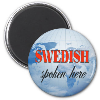 Swedish spoken here cloudy earth magnet