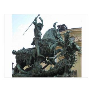 Swedish Statue Postcard