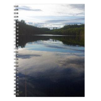 Swedish stunning lake notebook