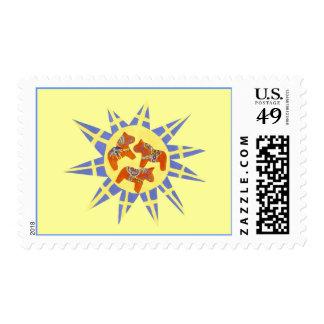 Swedish Sunburst Stamp