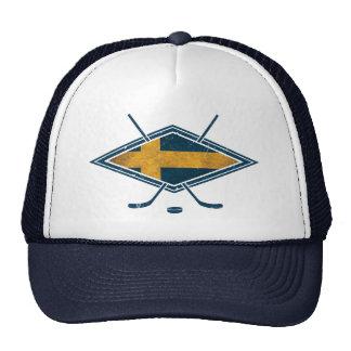 Swedish Sverige Ice Hockey Trucker Hat
