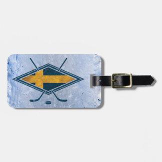 Swedish Sverige Ice Hockey Luggage Tag
