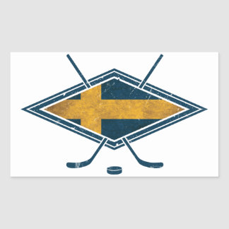 Swedish Sverige Ice Hockey Rectangular Sticker