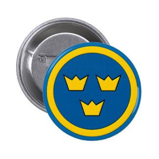 Swedish Three Crowns Flygvapnet 2 Inch Round Button