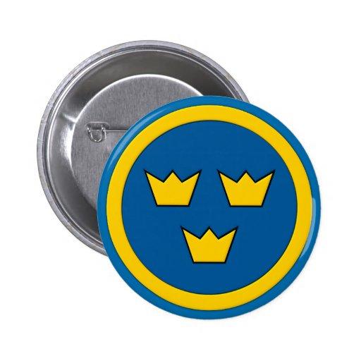 Swedish Three Crowns Flygvapnet Button