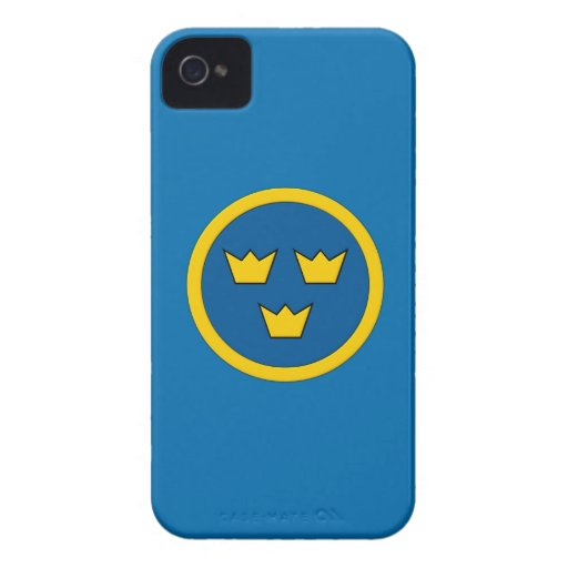 Swedish Three Crowns Flygvapnet iPhone 4 Covers