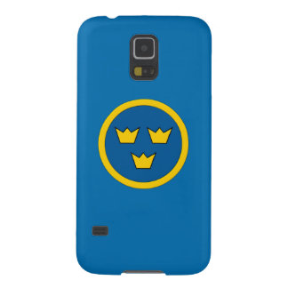 Swedish Three Crowns Flygvapnet Coat of Arms Galaxy S5 Cover