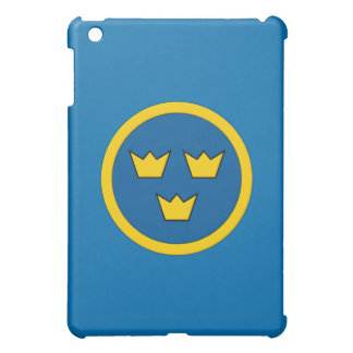 Swedish Three Crowns Flygvapnet Coat of Arms Swede iPad Mini Cases