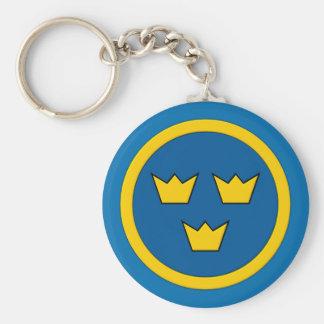 Swedish Three Crowns Flygvapnet Keychain