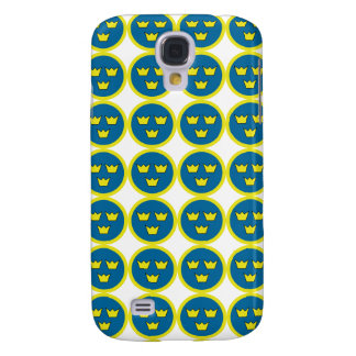 Swedish Three Crowns Flygvapnet Tile Pattern Galaxy S4 Cover