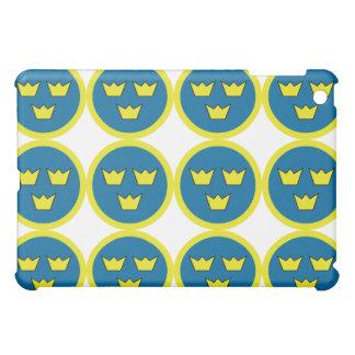 Swedish Three Crowns Flygvapnet Tile Pattern Case For The iPad Mini