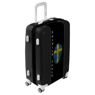 Swedish touch fingerprint flag luggage