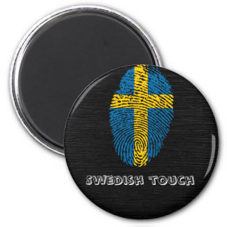 Swedish touch fingerprint flag magnet
