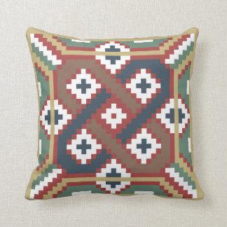 Swedish Traditional Röllakan Pattern Throw Pillow