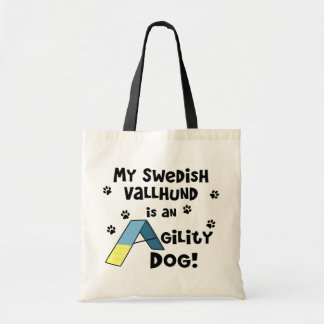 Swedish Vallhund Agility Dog Budget Tote Bag