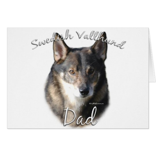 Swedish Vallhund Dad 2 Card