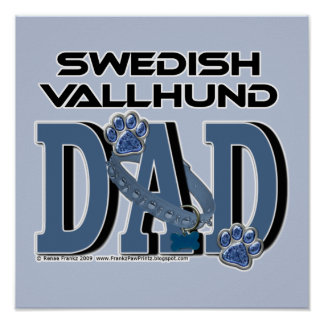 Swedish Vallhund DAD Poster
