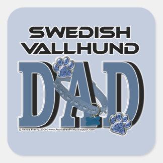 Swedish Vallhund DAD Square Sticker