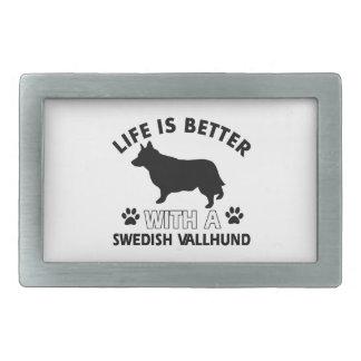 Swedish Vallhund dog breed designs Belt Buckle