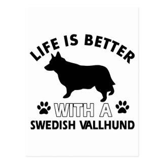 Swedish Vallhund dog breed designs Postcard