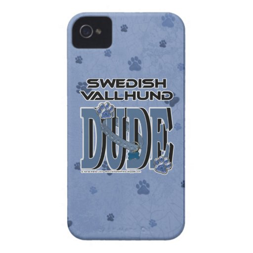 Swedish Vallhund DUDE iPhone 4 Case-Mate Case