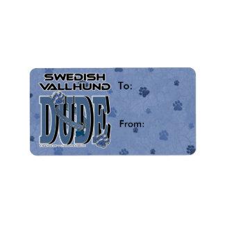 Swedish Vallhund DUDE Label