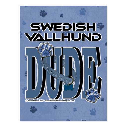 Swedish Vallhund DUDE Post Cards