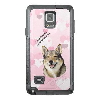 Swedish Vallhund, Pink and White Hearts OtterBox Samsung Note 4 Case