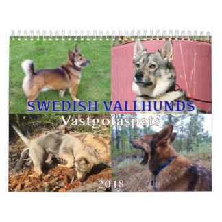 Swedish Vallhund, Vastgotaspets, Callendar 2018 Calendar