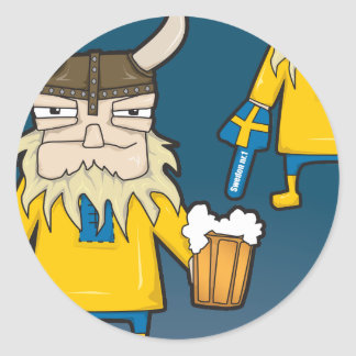 Swedish Viking Fan Sticker