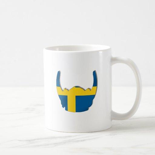 swedish viking helmet flag of sweden mug zazzle