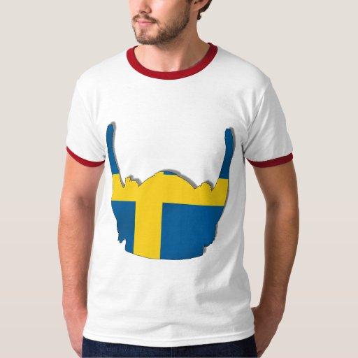 swedish viking helmet flag of sweden sverige flags tee