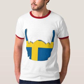 Swedish Viking helmet flag of Sweden Sverige flags Tee Shirts
