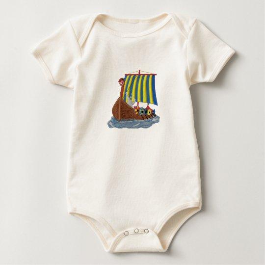 Swedish Viking Ship Baby Bodysuit