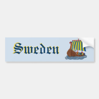 Swedish Viking Ship Bumper Sticker