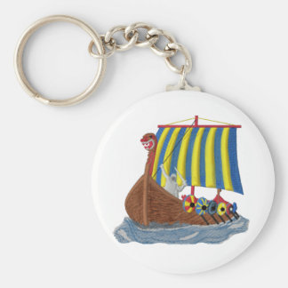 Swedish Viking Ship Keychain