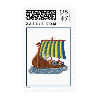 Swedish Viking Ship Postage