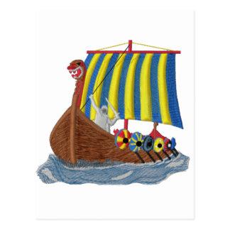 Swedish Viking Ship Postcard