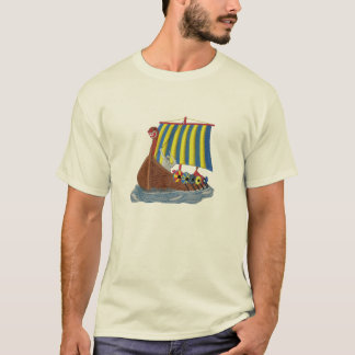 Swedish Viking Ship Scandinavian Sailing Vessel T-Shirt