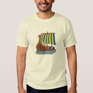 Swedish Viking Ship Scandinavian Sailing Vessel Tee Shirt