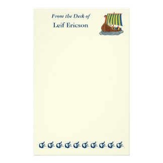 Swedish Viking Ship Stationery