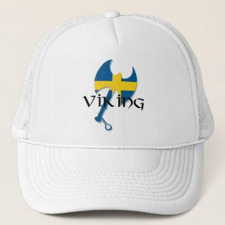 Swedish Viking Sweden flag Axe Trucker Hat