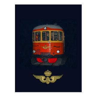 Swedish Vintage Railbus and vintage SJ brand Postcard