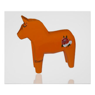 Swedish Wooden Horse Poster
