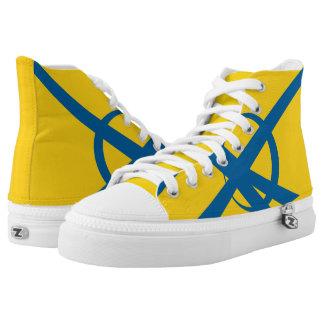 Swedish Yellow and Blue Portal Hi-Top
