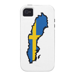 SWEEDEN MAP FLAG VIBE iPhone 4 CASE