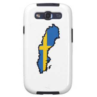 SWEEDEN MAP FLAG GALAXY S3 COVER