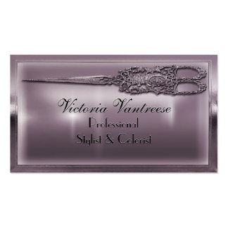 "Sweedlepiper Vanity Scissor 3.5"" x 2"" Elegant Business Card Templates"